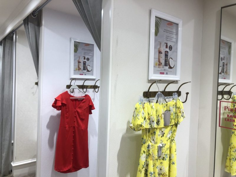 fitting room poster marketing palmers and oasis