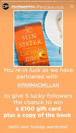 Sun Sister Instagram competition post